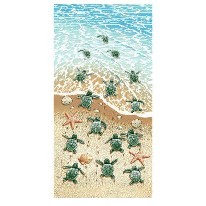 Printed Beach towel TURTLES 70x140cm