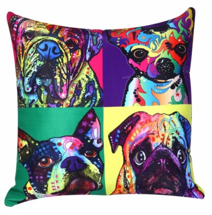 Printed Pop Art Cushion Cover - DOGS