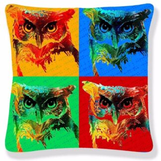 Printed Pop Art Cushion Cover - Ugly Big Eye OWL