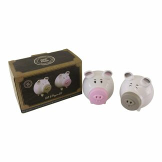 Salt & Pepper Condiment Set, Pigs with Silicon Snouts
