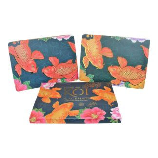 Set Of 4 Koi Dinner Placemats 29x21cm